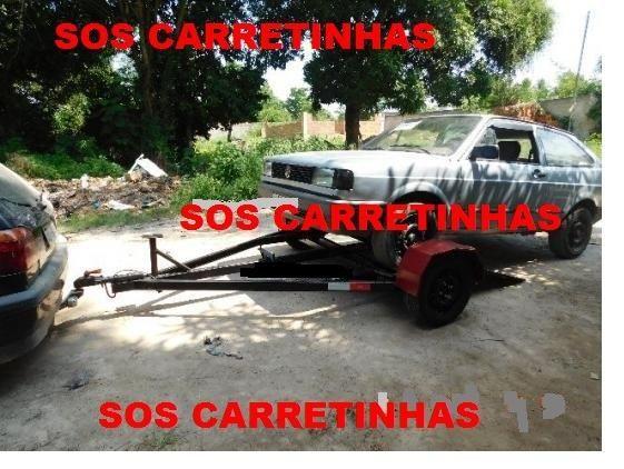 R$100,00 asa delta carretinha reboque guincho locação para puxar carro (aluguel) - Foto 3