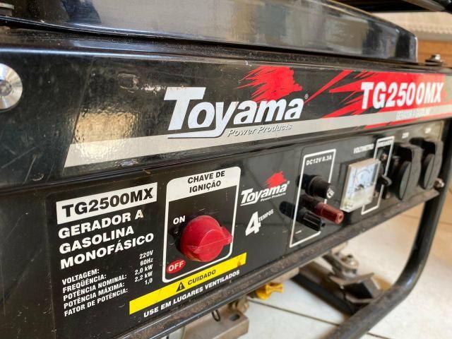 Gerador De Energia À Gasolina 2,2 Kva Tg2500mx Toyama - Foto 2
