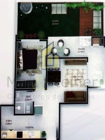 Napraia-Amplo Ap 01 Dorm,piscina e salaõ de festas na cobertura frente mar-parcela! - Foto 4
