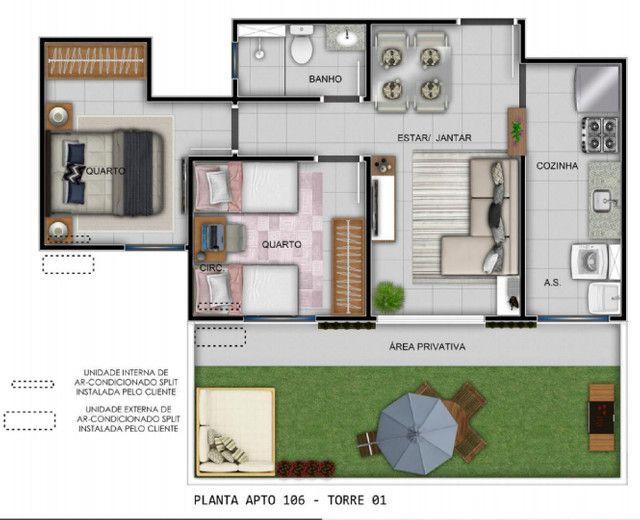 Apartamento 2D, sacada com churrasqueira, próximo a Av. Baltazar - Entrada Parcelada! - Foto 3