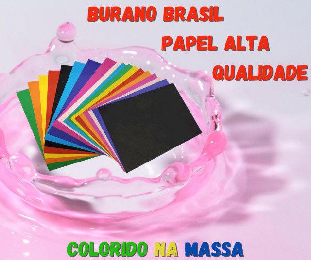 Papel Colorido Na Massa - Foto 2