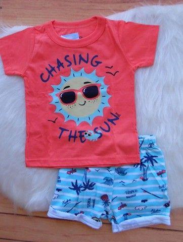 Conjunto Infantil Marisol Play Menino Camiseta Bermuda - Foto 2