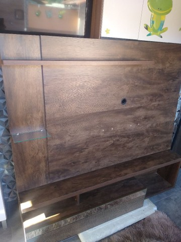 Painel rack imbuia 1,60x1,40 - Foto 3