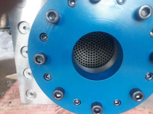 Cabeçote troca tela hidráulico para extrusora  - Foto 2