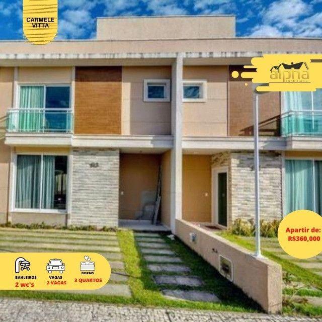 Casas em Condomínio Fechado Alto padrão no Eusébio com 3 suítes e lazer completo