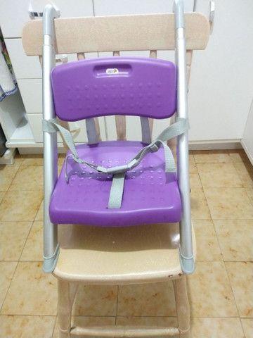 Cadeira portátil refeição lilás Litaf - Foto 3
