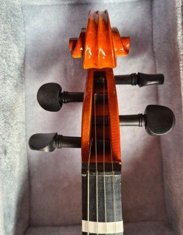 Violino Barth 4/4 com caixa e suporte de violino. - Foto 6