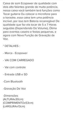 Caixa de som Bluetooth ECOPOWER - Foto 6
