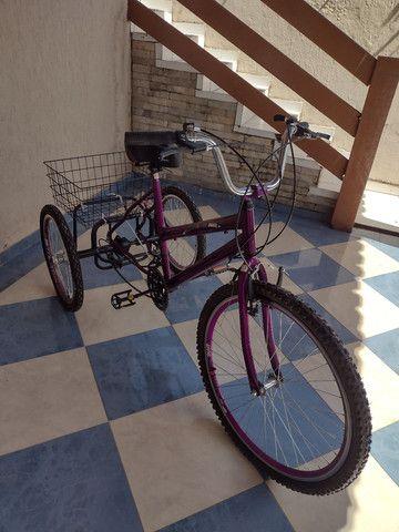 Lindo triciclo novo com cestinha e sela de gel - Foto 3