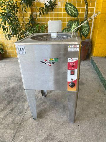 Fritadeira / fritador agua e óleo inox - vários modelos/ lanchonetes e restaurantes - Foto 4