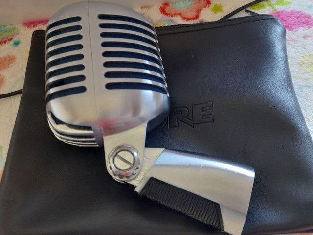 Microfone com Fio SUPER55 Deluxe Dinâmico Shure<br><br> - Foto 3