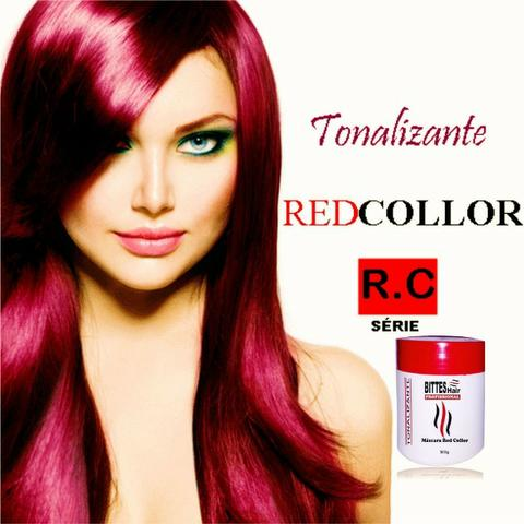 Máscara Matizadora 500 g Red Tonalizante Red Collor Vermelha Bittes Hair Profissional - Foto 4