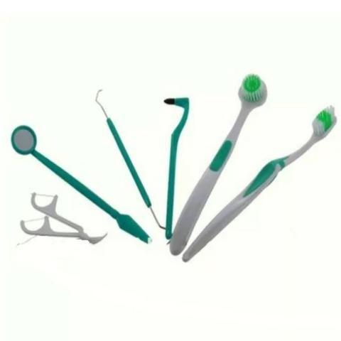 Kit Com 7 Peças Completo Para Limpeza Dentária