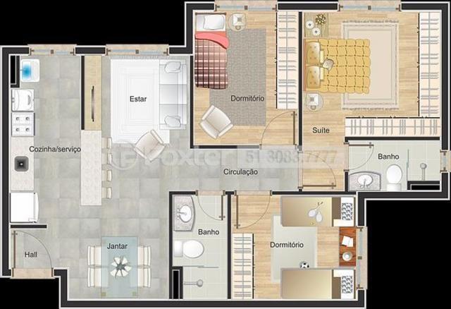 Apartamento à venda com 3 dormitórios em Vila monte carlo, Cachoeirinha cod:189021 - Foto 15