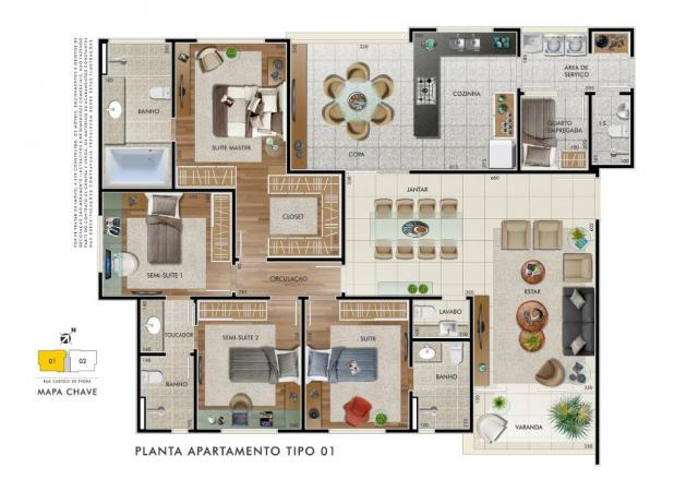 Apartamento com 4 dormitórios à venda, 153 m² por R$ 1.240.000,00 - Castelo - Belo Horizon - Foto 12