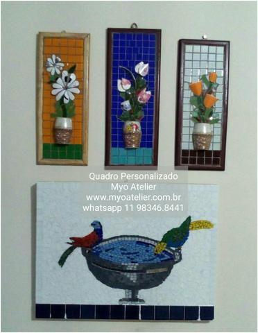 Quadro mosaico, espelho mosaico, decoração, mosaico
