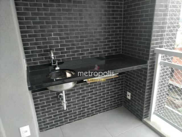 Apartamento com 2 dormitórios para alugar, 69 m² por r$ 2.500/mês - cerâmica - são caetano - Foto 11