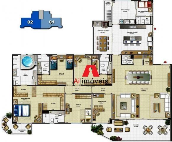 Apartamento de alto padrão,no edifício van gogh. 04 suítes. - Foto 2