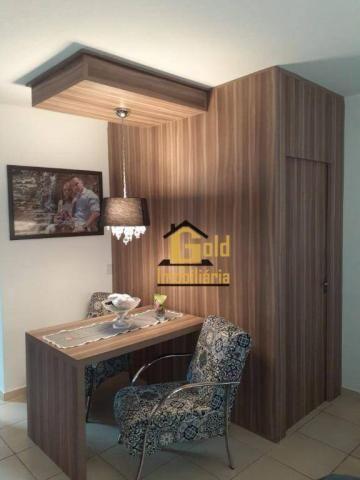 Apartamento com 2 dormitórios para alugar, 46 m² por R$ 1.200/mês - Jardim Heitor Rigon -  - Foto 2