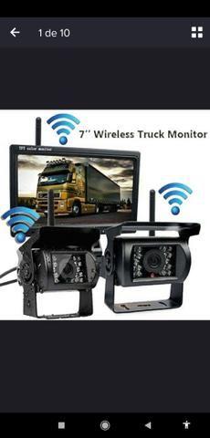 Camera de ré para pick up, caminhão, onibus,etc - Foto 7