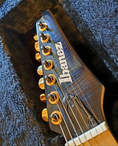 Ibanez iron label RGIX27FEQM SBS Sapphire Blue premium prestige Jem js1000 rg550 - Foto 5