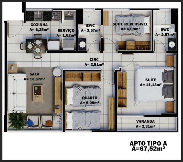 Ágil-78.000.00mil reais- Apartamento North Mix Condomínio- Zona Norte/Bairro Primavera - Foto 5