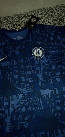 Camisa Chelsea importada pré jogo 2020/2021 - Foto 4