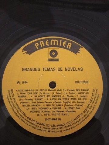 LP\Disco de Vinil - Grandes Temas de Novelas - 1974 - Raro - Foto 4