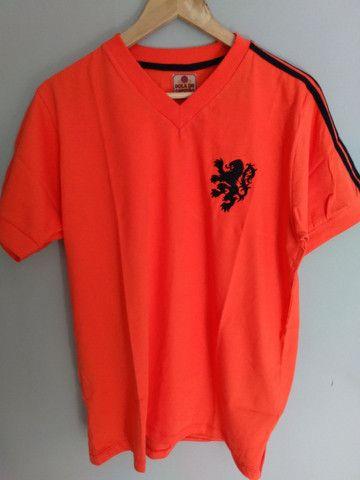 Camisa retrô seleção da Holanda (1974) - Ganem Sports