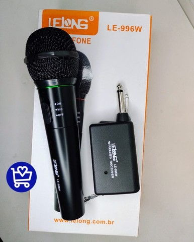 *Microfone Lelong Sem fio LE-996W*  - Foto 3