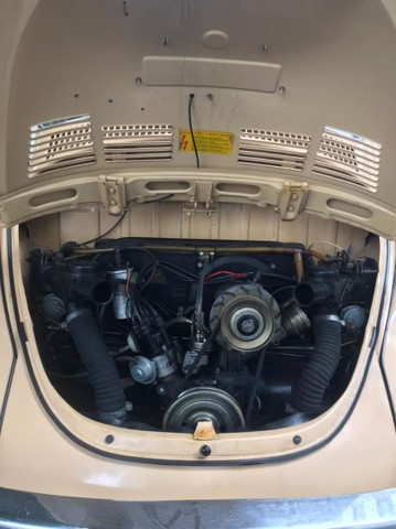 VW Volkswagen Fusca 1600 Álcool 1984 Placa Mercosul Preta Colecionador - Foto 4