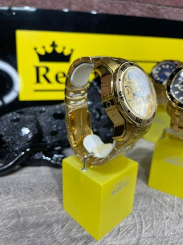 Relógio invicta pro diver 0074 banhado a ouro  - Foto 2