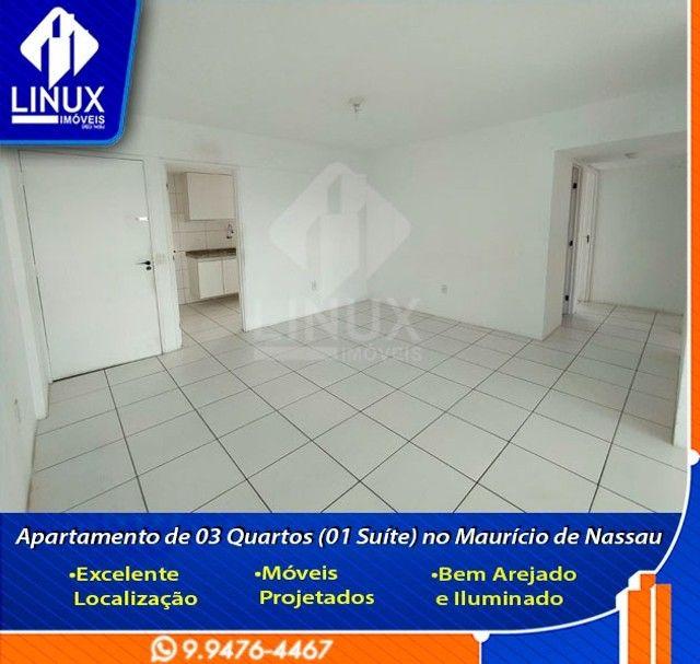 Alugo Apartamento de 3 Quartos (1 Suíte) com 88 m² no Maurício de Nassau em Caruaru/PE. - Foto 3