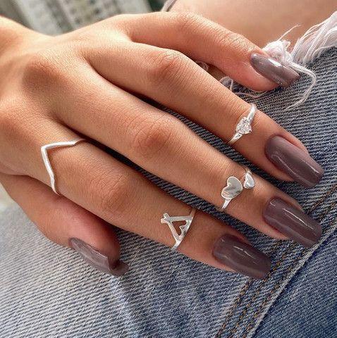 Anel de prata geométrico V