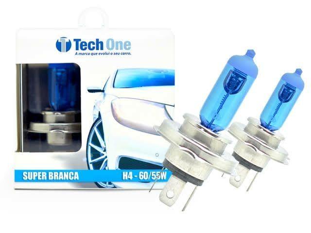 Lâmpada H4 Super Branca TechOne 8500k Par