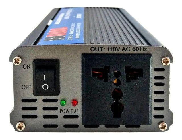 Inversor De Corrente Dc 12v Para Ac 110v 127v 1000w Potência - Loja Natan Abreu - Foto 6