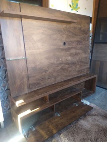 Painel rack imbuia 1,60x1,40 - Foto 2