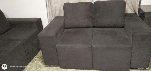 Sofá reclinável 2 e 3 lugares - Foto 5