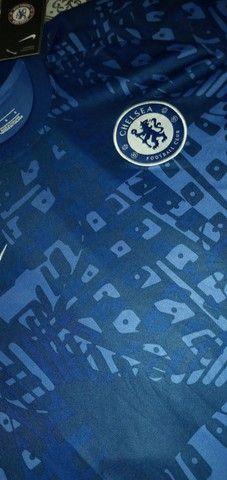 Camisa Chelsea importada pré jogo 2020/2021 - Foto 5