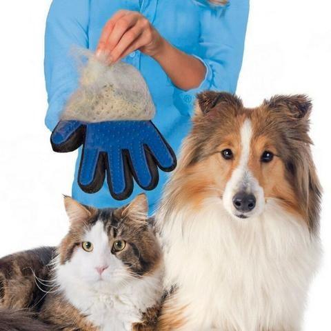 Luva Escova Pet Nano Magnética Tira Pelos De Cães E Gatos