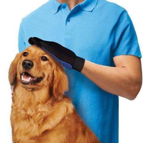 Luva Escova Pet Nano Magnética Tira Pelos De Cães E Gatos - Foto 4