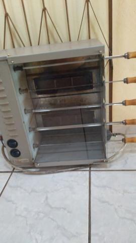 Churrasqueira a gás giratória Elétrica