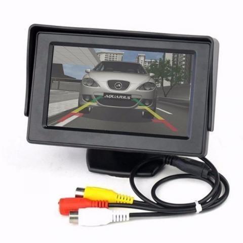 Kit Sensor De Estacionamento + Câmera De Ré + Tela Lcd 4.3 - Van - Carro - Escolar - Foto 2