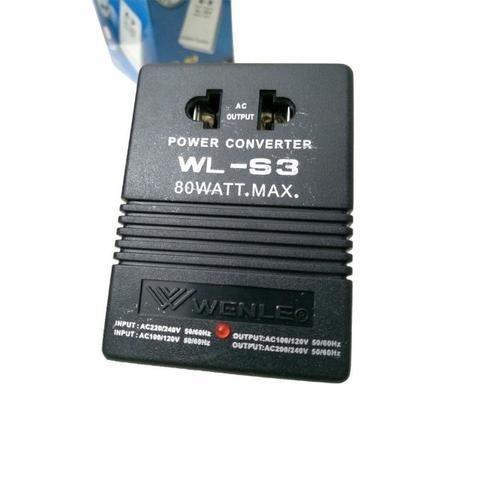 Transformador e Conversor 80w Wl-s3 Wenle 110 220v ou 220 110v Ac Ac Potencia Tomada Casa - Foto 4