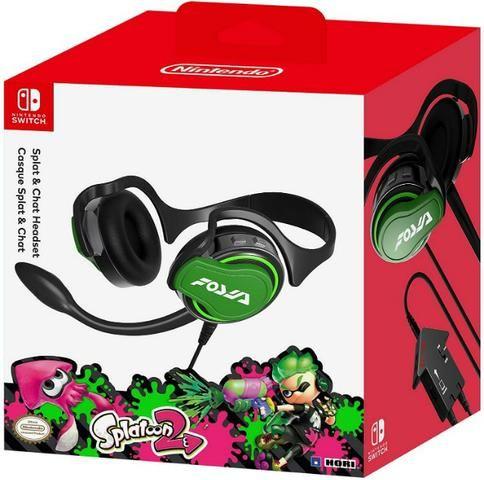 Headset Splat & Chat Splatoon 2 para Nintendo Switch