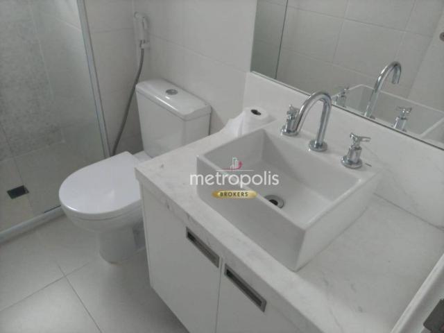 Apartamento com 2 dormitórios para alugar, 69 m² por r$ 2.500/mês - cerâmica - são caetano - Foto 17