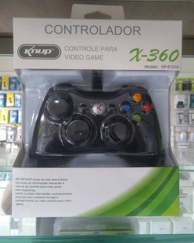 Joystick para Xbox 360 com fio ( Loja na Cohab) Total Segurança em Sua Compra