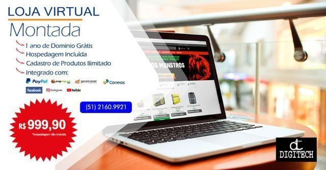 Criação de Loja Virtual para Comerciantes