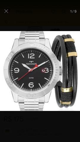 52f94b8c0b2 Relógio technos masculino com pulseira original - Bijouterias ...