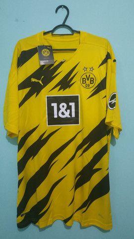 Camisa do Borussia Amarela Masculina 2020/21